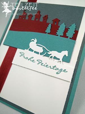 Stampin' Up! - FMS208, Christmas, Weihnachten, Sleighride Framelits, Framelits Schlittenfahrt, Kling Glöckchen, Jingle All the Way