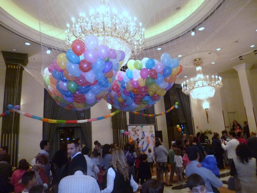 suelta de globos hotel