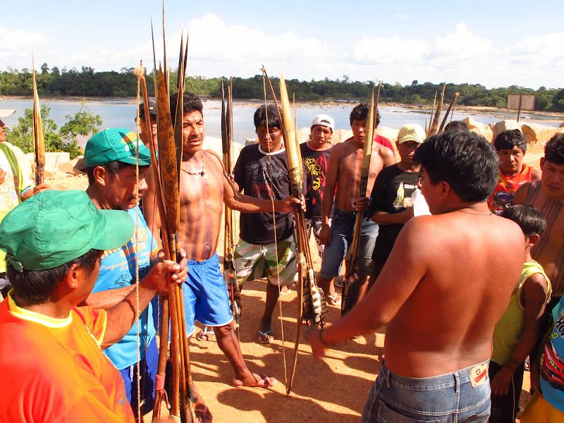 Parakana warriors. (Photo: Atossa Soltani)