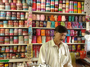 Colorful shop in Rawalpindi bazar