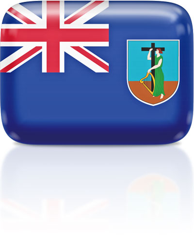 Montserratian flag clipart rectangular
