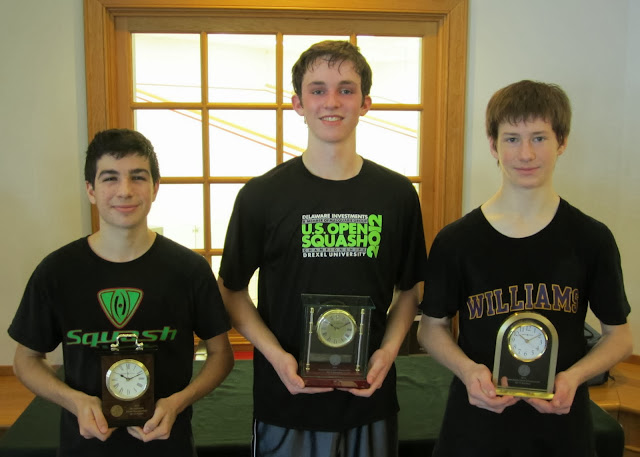 Mass Junior Championships, Jan 3-5, 2014  BU 17: Finalist - Alex Patricolo - (Southampton, NY); Champion - Jack Bell (Wellesley, MA); 3rd Place - Colin O'Dowd (Chester, NJ)