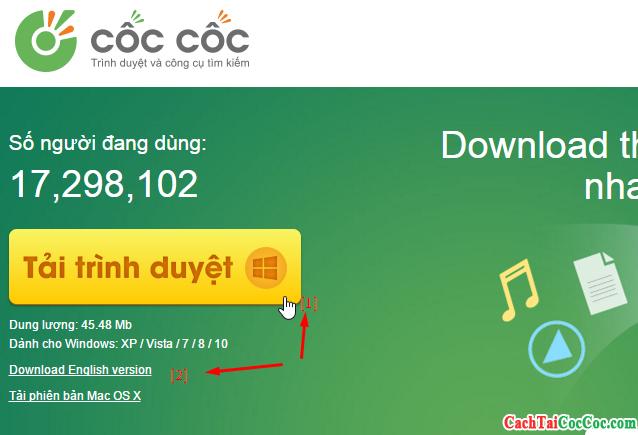 Tải Cốc Cốc Tiếng Việt cho Windows