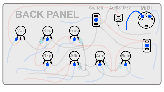 DIY Synth build guide panel connections 7