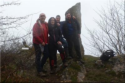 Arrigorrista mendiaren gailurra 1.143 m.  --  2016ko urtarrilaren 31an