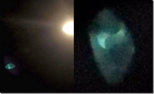 ufo object face supermoon