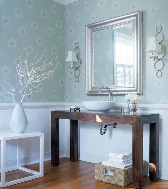 Climbing the walls with wallpaper the enchanted home - Bagno carta da zucchero ...