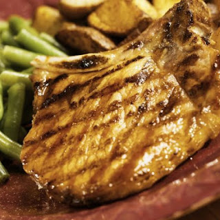 Charred Chops with Green Beans