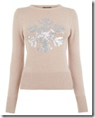 Oasis sequin snowflake jumper