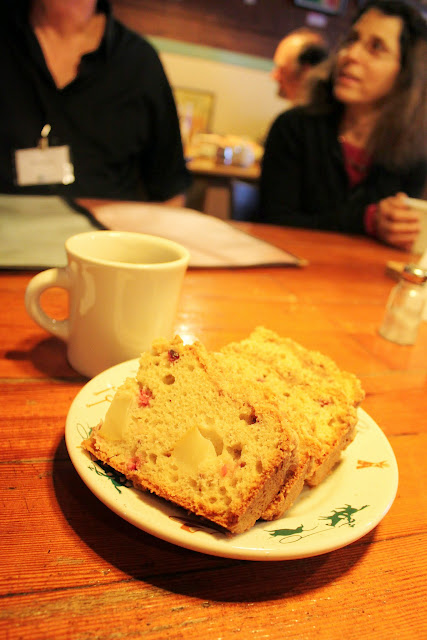 Pear and cranberry bread served at Old Town Cafe / Credit: Bellingham Whatcom County Tourism
