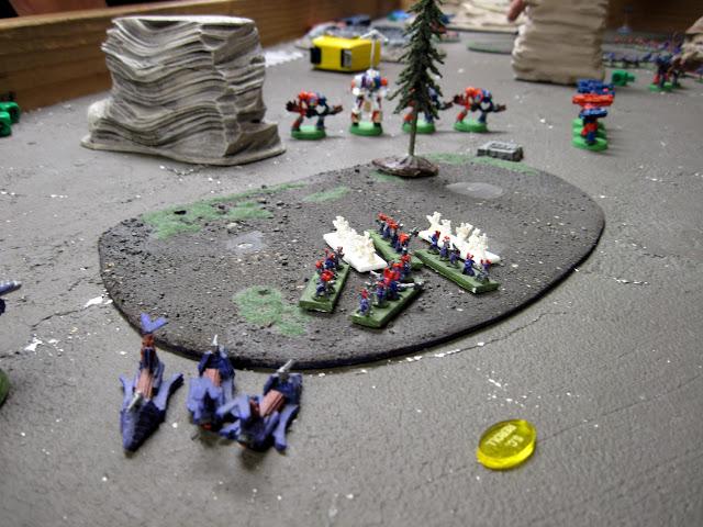 Tim's Knights lighting up the Dark Eldar.