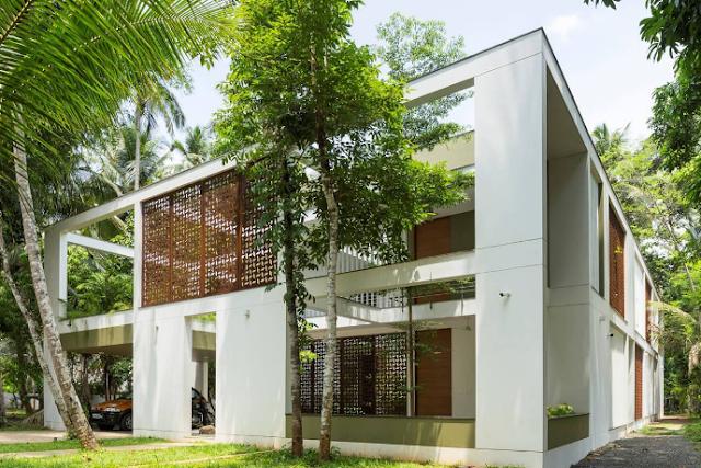 The Regimented House diện tích 2.45 acres (xấp xỉ 10.000m2) tại Ấn Độ