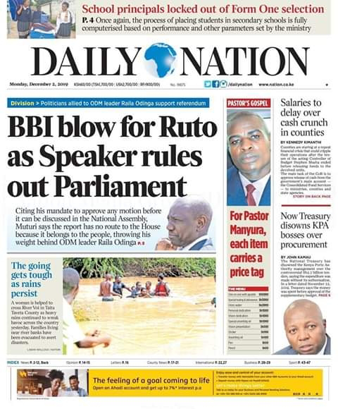 Daily Nation news.