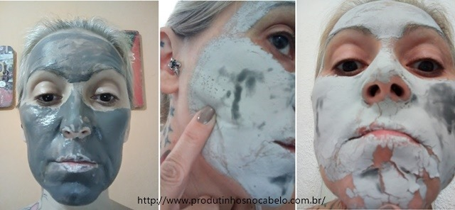 durante aplicacao Charcoal Mask