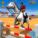 Mounted Horse Show 3D Game: Horse Jumping 2019 icon