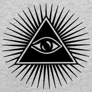 Simbol khas illuminati - All seeing eye.