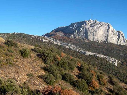 Le pic de Bertagne vu depuis le sentier du col de l'Espigoulier