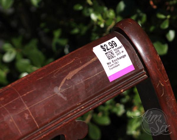 Three dollar thrift store chair