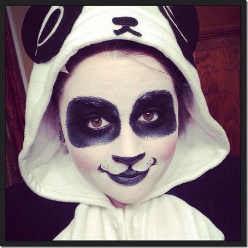 disfraz de oso panda (6). Para hacer el maquillaje