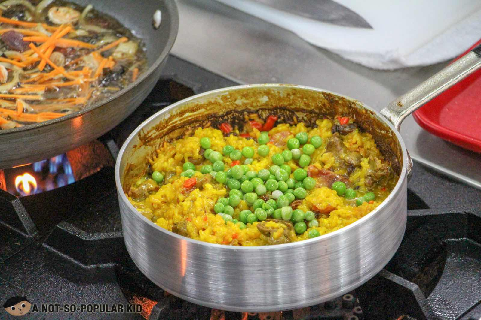 Almost cooked up - Paella Valenciana, PACE Araneta