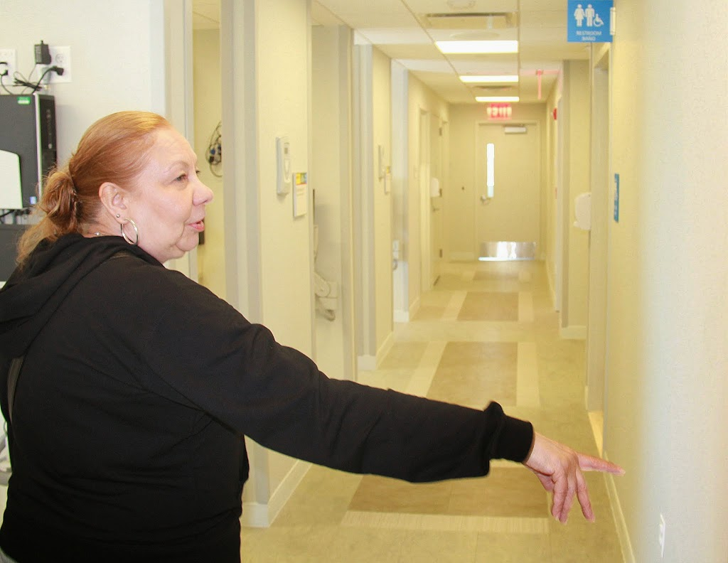 Dental assistant Maritza Mojica shows us the new facilities