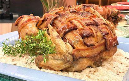 Frango Assado com Bacon