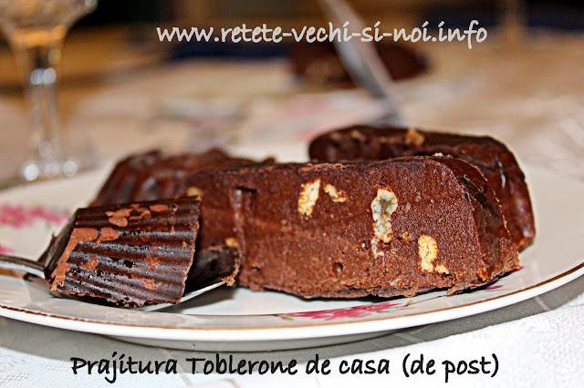 Prăjitură Toblerone de casă fără coacere (de post)