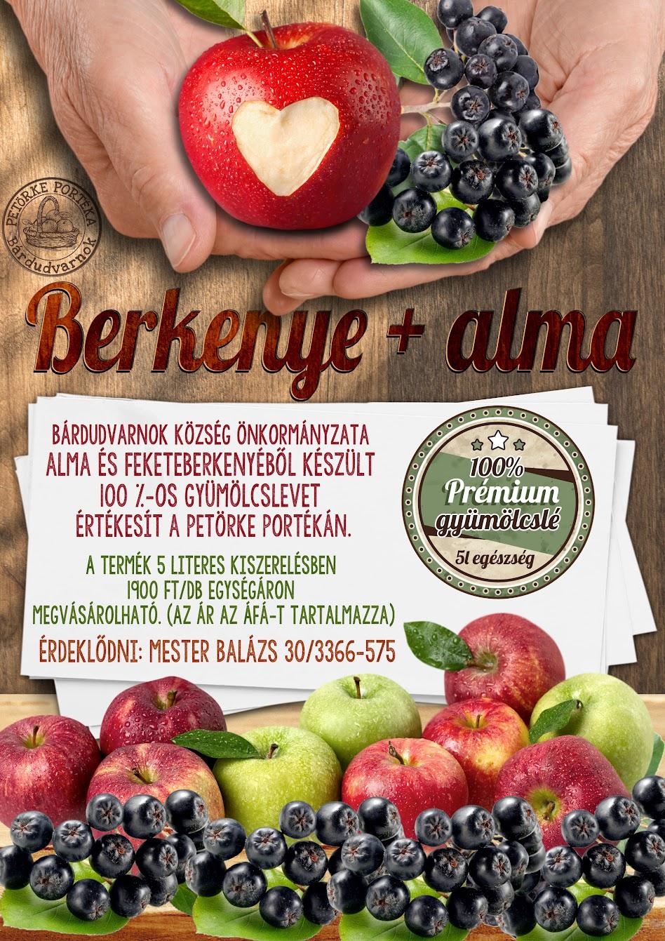Gyümölcslé plakát Bárdudvarnok Petörke Portéka