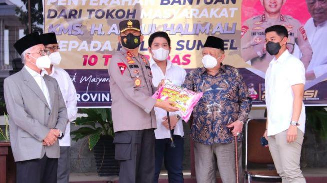 Terima Donasi 10 Ton Beras Haji Halim, Kapolda Sumsel: Asli, Bukan Hoaks