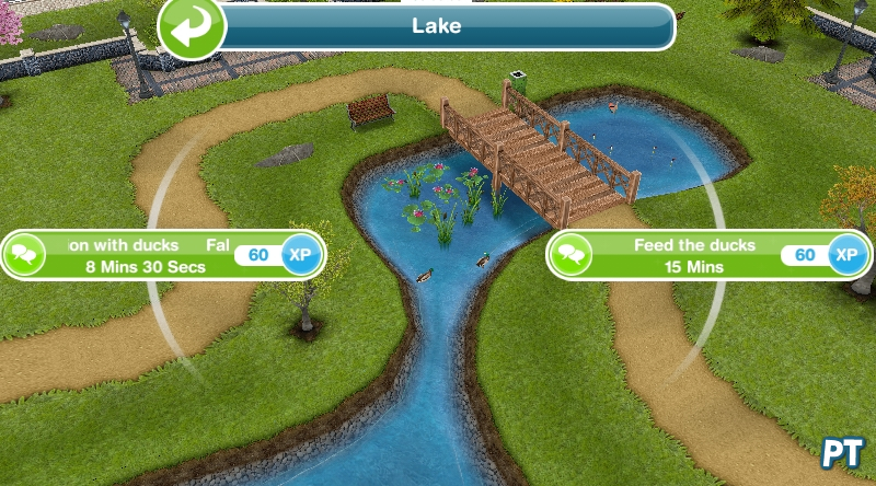 The Sims FreePlay ducks