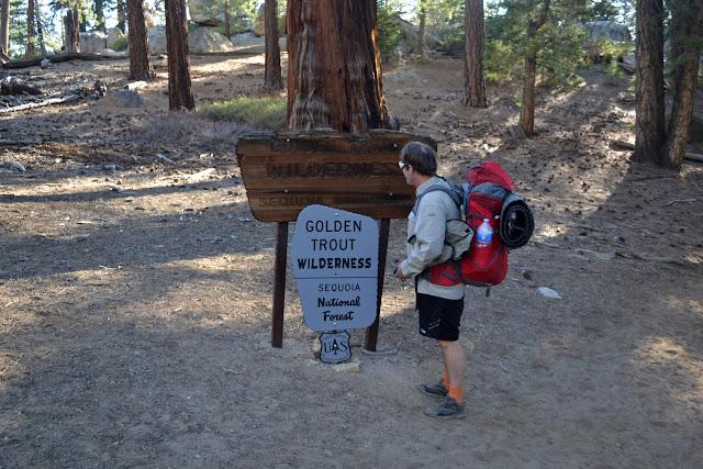 entering Golden Trout Wilderness