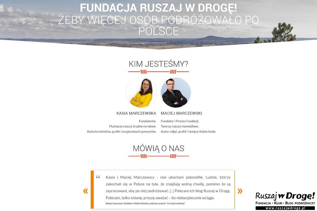 Fundacja dla polskiej turystyki - o Kasi i Macieju Marczewskich