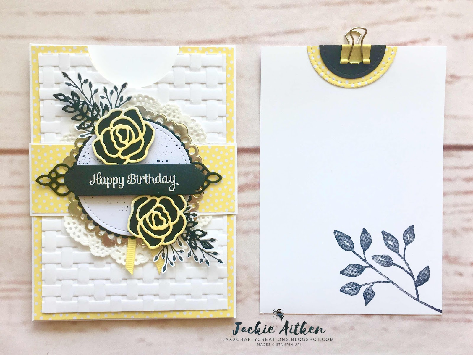 stampin up, pineapple punch, pocket card, jar of love, cake soiree