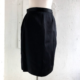 Saint Laurent Black Satin Skirt