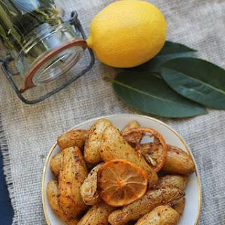 Lemon and Bay Roasted Fingerling Potatoes