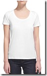 Whistles white lyocell and cotton seam back t-shirt