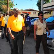 PM Freundel Stuart Nomination Day
