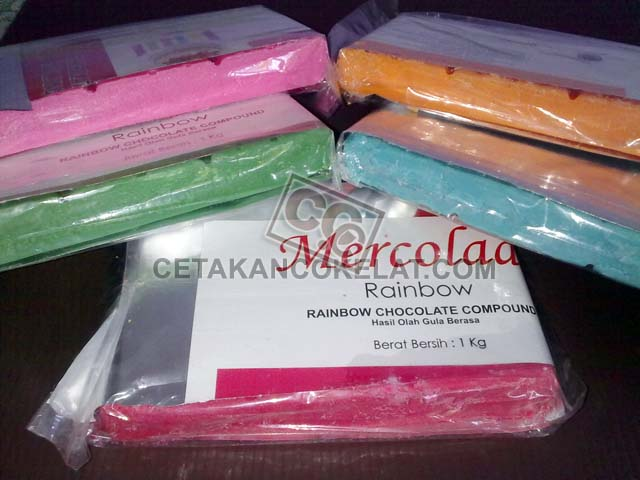 Coklat Mercolade Warna compound cokelat rainbow