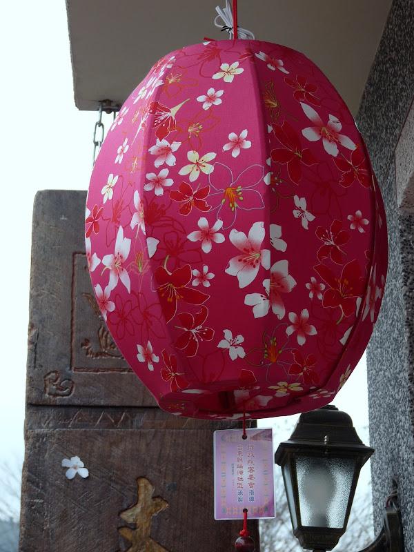 Environs de Taufen. rare jolie lanterne en tissu