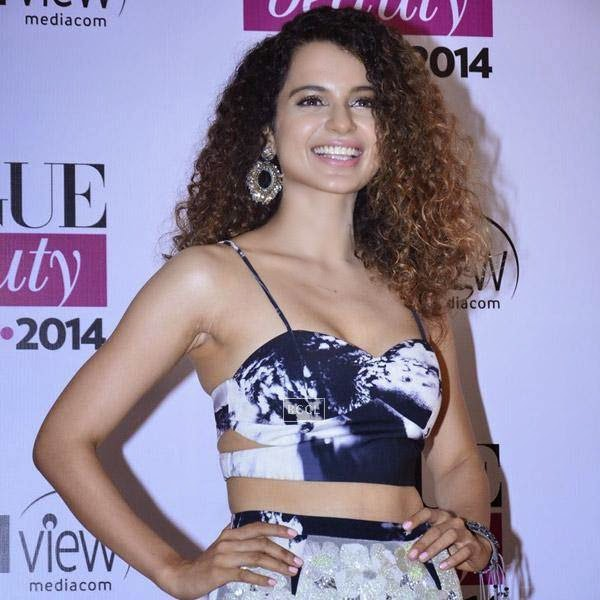Kangna Ranaut clicked on her arrival for Vogue Beauty Awards 2014, held at Hotel Taj Lands End in Mumbai, on July 22, 2014.(Pic: Viral Bhayani)