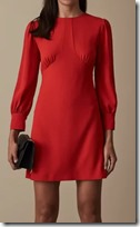 Reiss Seam Detail Crepe Dress