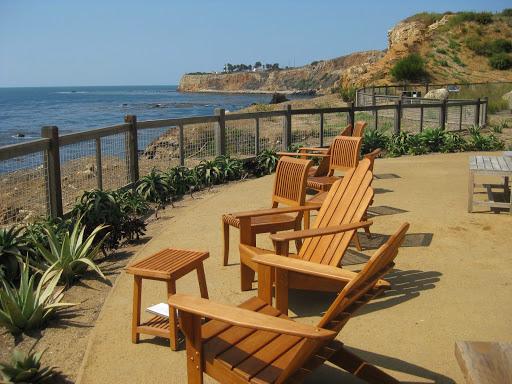 Terranea terrace.  Walkabout Malibu to Mexico: Hiking Inn to Inn on the Southern California Coast