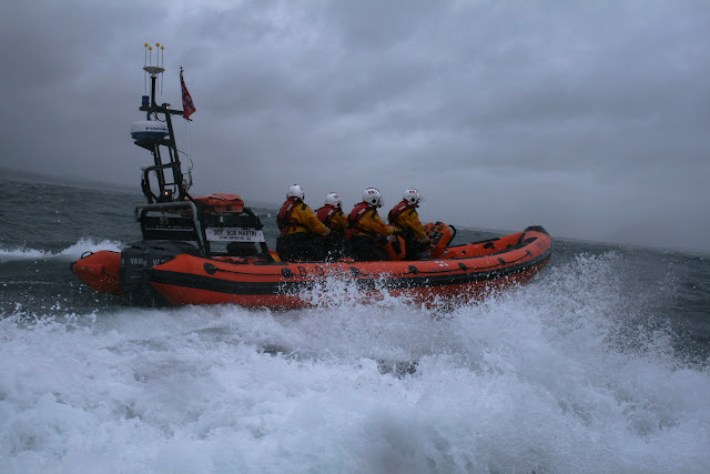 12 June 2011 - ILB exercise in rough weather (southerly force 7, gusting 8, heavy rain) - building up for the good ones!  (Photo credit: Rob Inett)