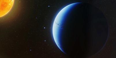 ilustração do Saturno quente WASP-96b