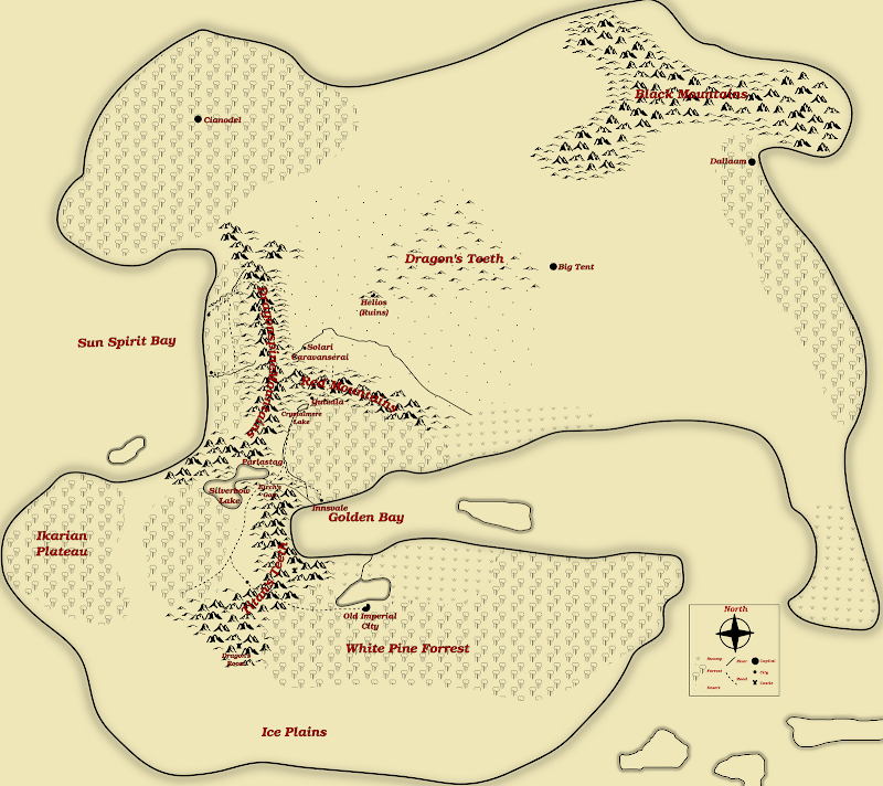 Map of Aiah, 1282 EY