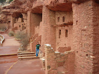 Christy C.  @ Manitou Cliff Dwellings in Colorado Springs, Colorado, on a spring break road trip with her roommate.