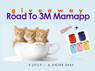 Giveaway Road to 3M Mamapp