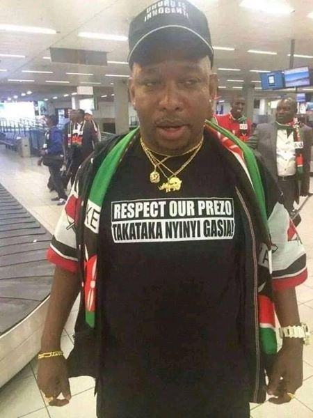 Mike Sonko at ICC the Hague in Netherlands.
