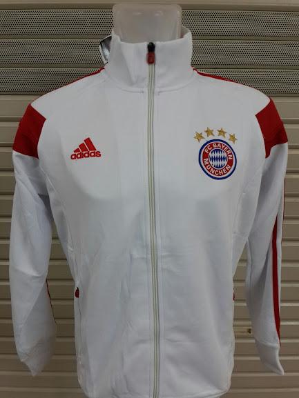 Jaket Bayern Munchen Putih List Merah 2014-2015