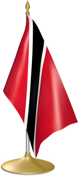 Trinidadian or Tobagonian table flags - desk flags